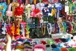 'Ribbon vendors, Zocalo, Merida'